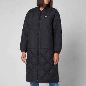 Tommy Jeans Women's Tjw Quilted Bomber Coat - Black