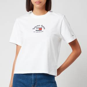 Tommy Jeans Women's Tjw Bxy Crp Timeless Tommy 1 Tee - White