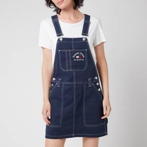 Tommy Jeans Women's Tjw Timeless Dungaree Dress - Twilight Navy