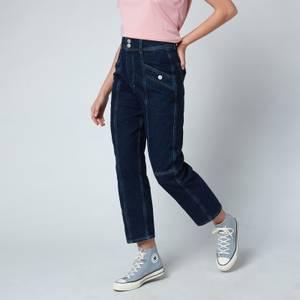Tommy Jeans Women's Relaxed Cargo Jeans - Denim Dark