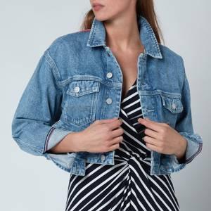 Tommy Jeans Women's Crop Trucker Jacket - Denim Light