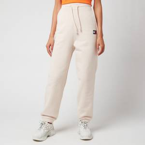 Tommy Jeans Women's Tjw Relaxed Hrs Badge Jogging Bottoms - Smooth Stone