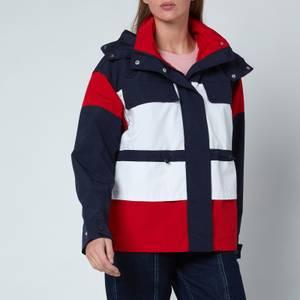Tommy Jeans Women's Tjw Colourblock Parka - Twilight Navy/Multi