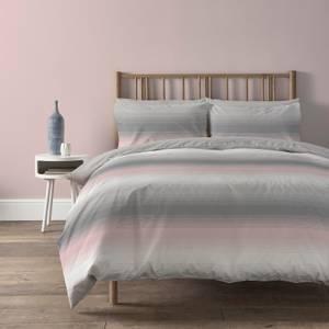 Copenhagen Home Faded Stripe Reversible Bedset - Double - Blush
