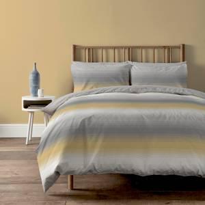 Copenhagen Home Faded Stripe Reversible Bedset - Double - Ochre