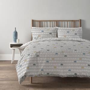 Copenhagen Home Scandi Waves Reversible Bedset - King - Silver