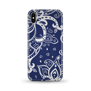 Blue Paisley Phone Case for iPhone and Android