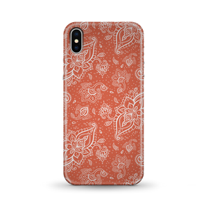 Orange Paisley Phone Case for iPhone and Android