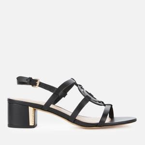 Coach Women's Edina Leather Block Heeled Sandals - Black