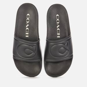 Coach Women's Ula Rubber Slide Sandals - Black