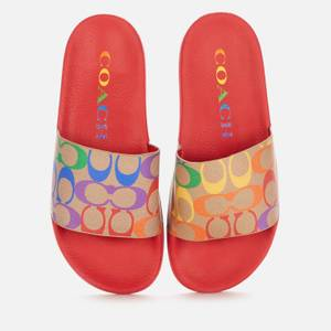 Coach Women's Pride Rubber Pool Slide Sandals - Chalk Multi