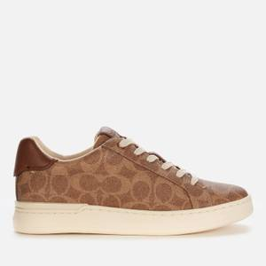 Coach Women's Lowline Coated Canvas Trainers - Tan