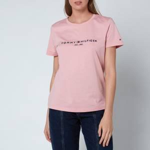Tommy Hilfiger Women's Relaxed Hilfiger Crewneck T-Shirt - Glacier Pink