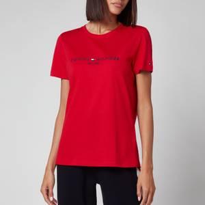 Tommy Hilfiger Women's Regular Hilfiger Crewneck T-Shirt - Primary Red