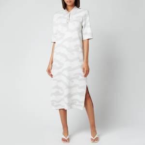 Tommy Hilfiger Women's Icon Polo Midi Dress Sweatshirt - Motion Flag/White