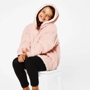 Blush Pink Hooded Blanket - Kids
