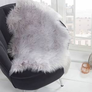 Silver Faux Fur Sheepskin Rug
