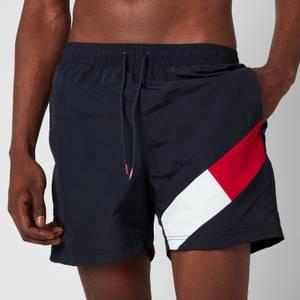 Tommy Hilfiger Men's Leg Flag Swim Shorts - Desert Sky