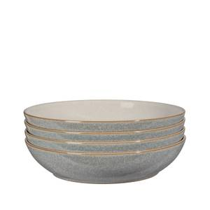 Elements Pasta Bowls - Light Grey - 4 Piece Set