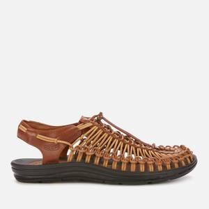 Keen Men's Uneek Premium Leather Sandals - Brown