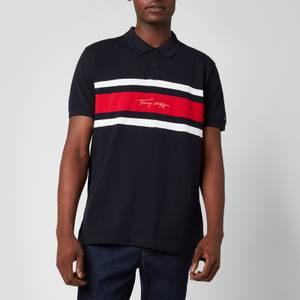 Tommy Hilfiger Men's Global Stripe Polo Shirt - Desert Sky
