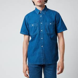 Tommy Hilfiger Men's Denim Short Sleeve Shirt - Louis Blue