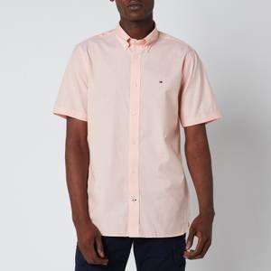 Tommy Hilfiger Men's Soft Poplin Short Sleeve Shirt - Summer Sunset