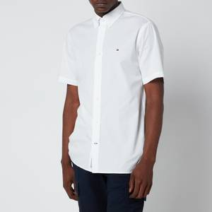 Tommy Hilfiger Men's Soft Poplin Short Sleeve Shirt - White