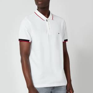 Tommy Hilfiger Men's Placket Detail Polo Shirt - White