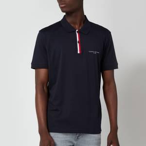 Tommy Hilfiger Men's Global Stripe Placket Polo Shirt - Desert Sky