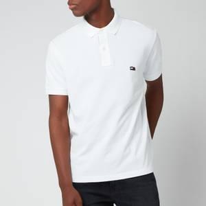 Tommy Hilfiger Men's Wavy Flag Polo Shirt - White