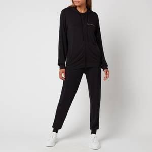 Emporio Armani Loungewear Women's Signature Full Zip Jacket And Pants - Black