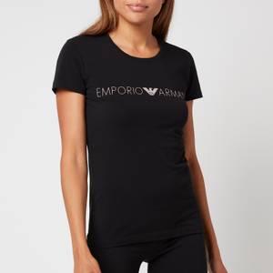 Emporio Armani Loungewear Women's Iconic Logoband T-Shirt - Black