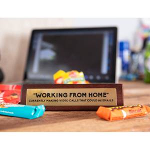 Wooden Desk Sign - Working From Home
