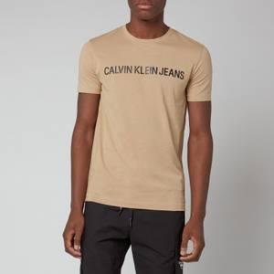 Calvin Klein Jeans Men's Slim Organic Cotton Logo T-Shirt - Beige
