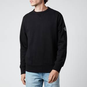 Calvin Klein Jeans Men's Organic Cotton Badge Sweatshirt - Black