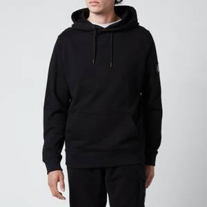 Calvin Klein Jeans Men's Organic Cotton Badge Hoodie - Black