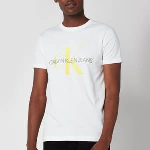 Calvin Klein Jeans Men's Slim Organic Cotton Monogram T-Shirt - White