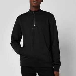 Calvin Klein Jeans Men's Organic Cotton Mockneck Sweatshirt - Black