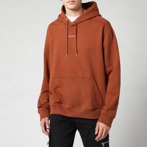Calvin Klein Jeans Men's Micro Branding Hoodie - Brown