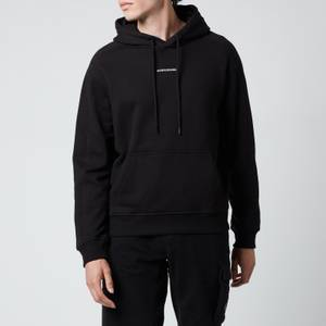Calvin Klein Jeans Men's Micro Branding Hoodie - Black