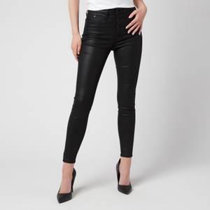 Calvin Klein Jeans Women's High Rise Super Skinny Ankle Jeans - Denim Black