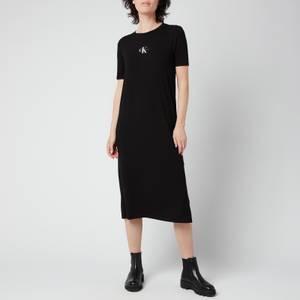 Calvin Klein Jeans Women's Rib Maxi T-Shirt Dress - CK Black