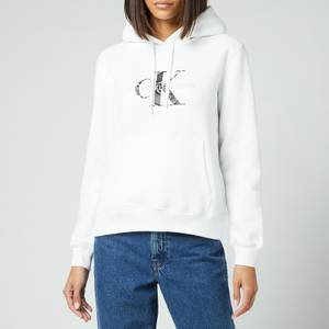 Calvin Klein Jeans Women's Reptile Monogram Hoodie - Bright White