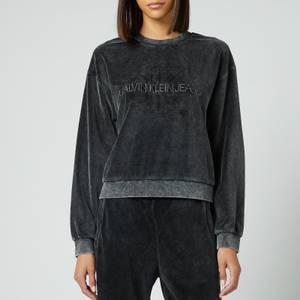 Calvin Klein Jeans Women's Wash Velvet Sweatshirt - CK Black