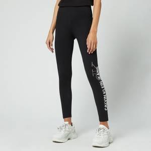 Calvin Klein Jeans Women's Vertical Logo Leggings - CK Black