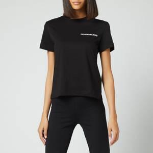 Calvin Klein Jeans Women's Vertical Logo T-Shirt - CK Black