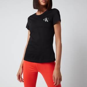 Calvin Klein Jeans Women's Monogram Logo 2-Pack Slim T-Shirt - CK Black