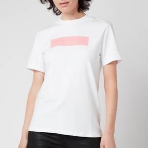 Calvin Klein Jeans Women's Hero Logo T-Shirt - Bright White/Soft Berry