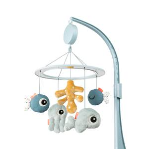 Done By Deer Sea Friends Musical Mirror Mobile - Blue